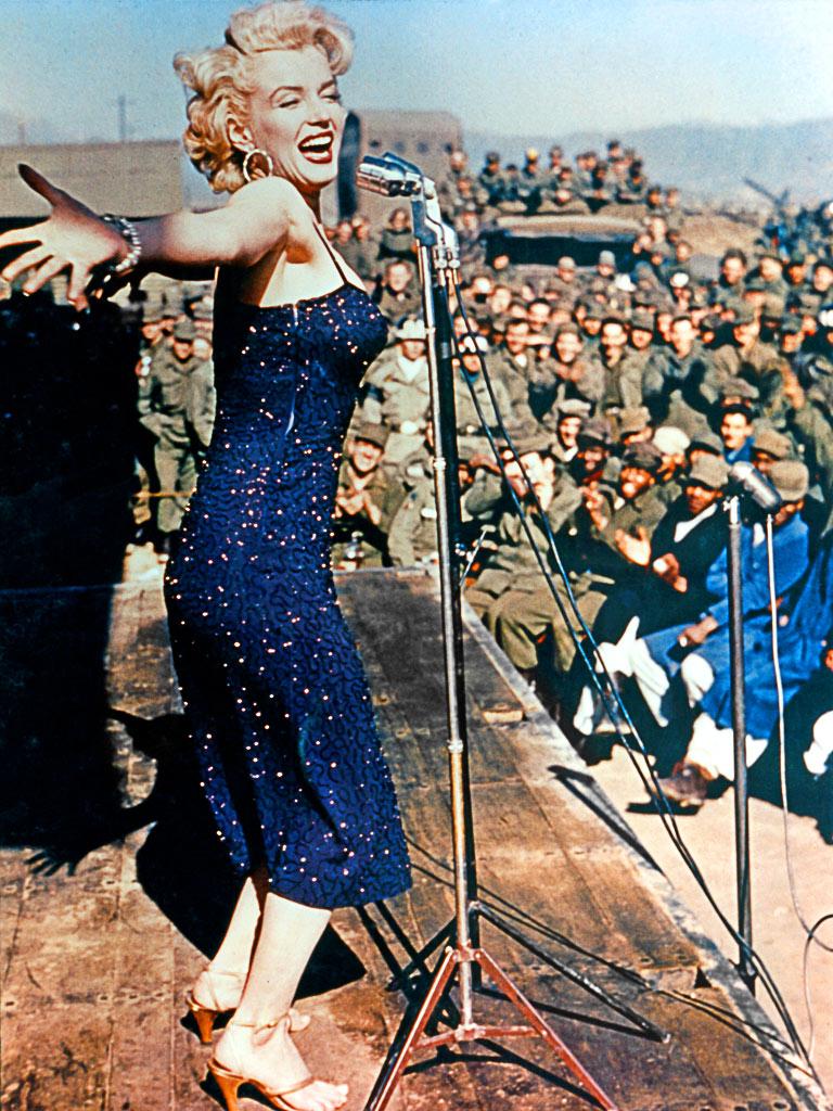 Bildresultat för marilyn performing in korea