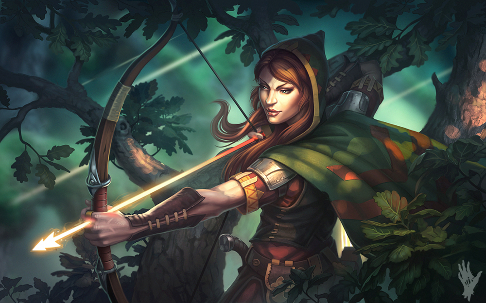 Fantasy female archer know