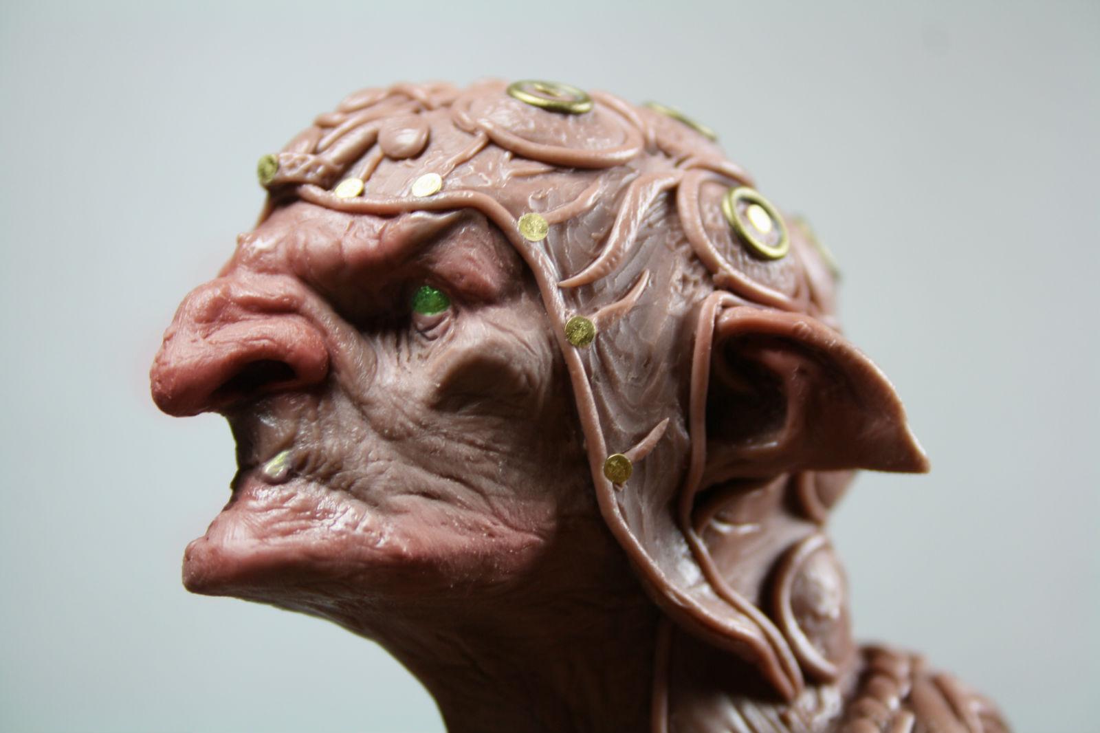 Wip Goblin Bust Planetfigure Miniatures