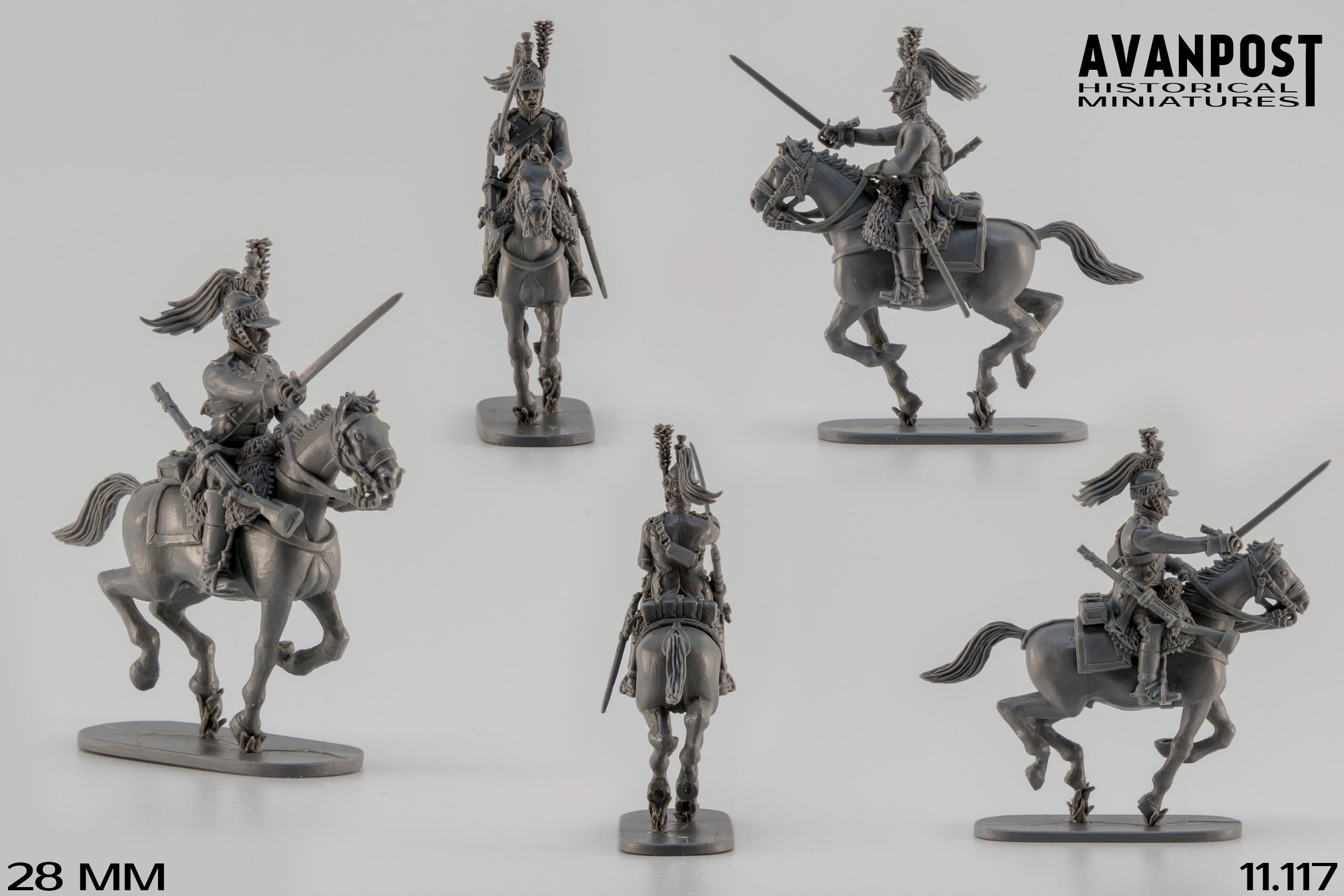 French Dragoons attacking | planetFigure | Miniatures