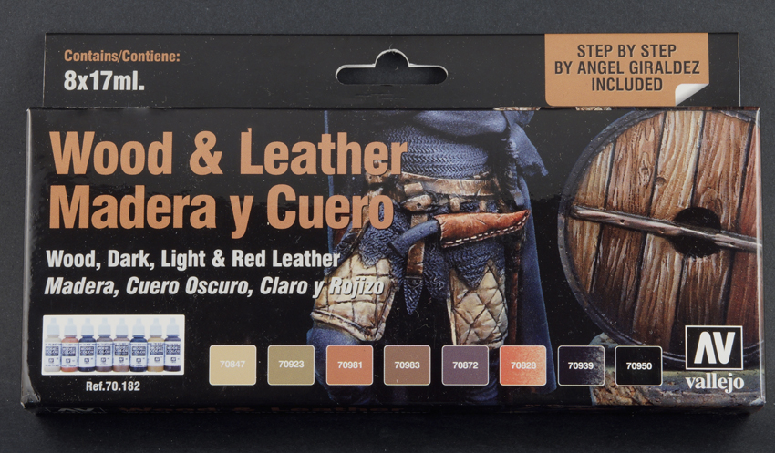Open Book Wood Amp Leather Paint Set From Vallejo 70 182
