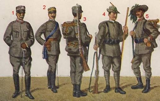 WWI Italian Army Uniform colors. | planetFigure | Miniatures
